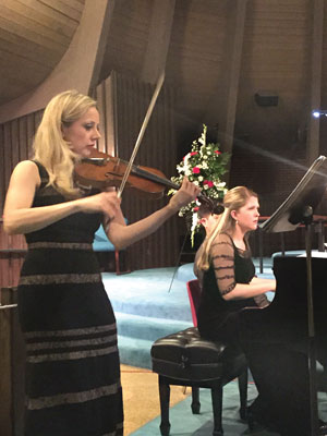Violinist Solomiya Ivakhiv and pianist Angelina Gadeliya perform in Denver.