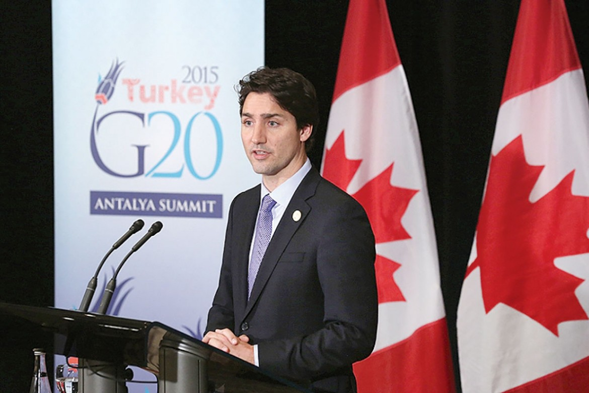 Canadian Prime Minister Justin Trudeau was asked about the garbage problem