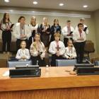 Students of Self-Reliance Ukrainian School in New York.