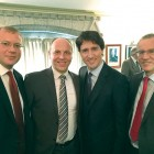 At a meeting with Canadian Prime Minister Justin Trudeau (from left) are: Ukraine's Ambassador to Canada Andriy Shevchenko, Verkhovna Rada First Vice-Chairman Andriy Parubiy, Mr. Trudeau and Member of the Parliament of Canada Borys Wrzesnewskyj.