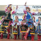 The Odesa Dancers perform at Syracuse's Ukrainian Festival; featured are Laura Hanuszczak and Iryna Hret.