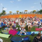 The multitudes gather at Soyuzivka as the 2015 Ukrainian Cultural Festival program begins.
