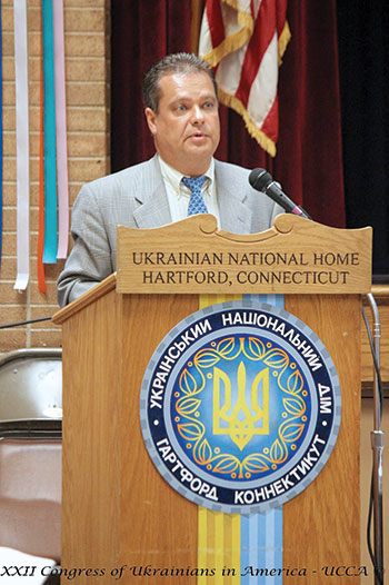 The newly elected president of the Ukrainian Congress Committee of America, Andriy Futey.