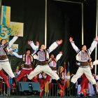 Ukrainian folks dancers grace the festival stage.