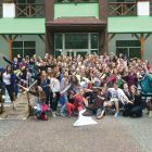 """The Communications Styles and Leadership Skills Workshop for Peace Corps """"Camp Heal"""" in the forest region of Volyn."""
