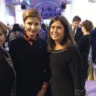 Former UCCA President Tamara Olexy (right) with the first lady of Ukraine, Dr. Maryna Poroshenko, in Kyiv.