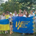 Members of the Ukrainian Running Club New York, the organizers of Vyshyvanka Run.