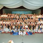 Participants of the 2016 Roma Pryma Bohachevsky Ukrainian Dance Camp at Soyuzivka.