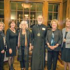The Boston Friends of UCU Committee with Bishop Borys Gudziak (from left): Maria F. Saxe, Tamara Nary, Tania Vitvitsky, Bishop Gudziak, Christine Slywotzky and Alicia Szendiuch.