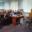 Ksenia Hapij speaks before Ukrainian Catholic bishops at their synod in Briukhovychi, Ukraine, on September 5.