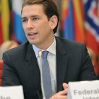The new chairperson-in-office of the Organization for Security and Cooperation in Europe, Austrian Foreign Affairs Minister Sebastian Kurz.