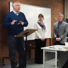 Dr. Serhiy Kvit with Tetiana Antoniuk and Dr. Peter Mahaffy.
