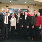Ukrainian American Veterans Post 17 members and guests at the post's Christmas celebration.