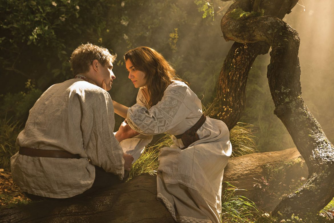 "Max Irons as Yuiry and Samantha Barks as Natalka in ""Bitter Harvest."""