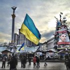 The scene on Kyiv's Maidan – Independence Square – on January 19, 2014.