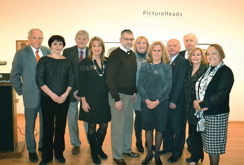 At the Ukrainian Institute of Modern Art (from left) are: Mykola Kocherha, Olena Smolynets, Orest Hrynevych, Marta Farion, Yohanan Petrovsky-Shtern, Orysia Cardoso, Anna Mostovych, Lubomyr Klymkowych, Jaroslav Sobol, Motria Melnyk and Olena Pryma.