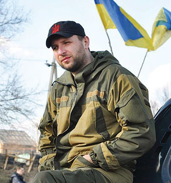 National Deputy Volodymyr Parasiuk, one of the leaders of the trade blockade that began on January 25.