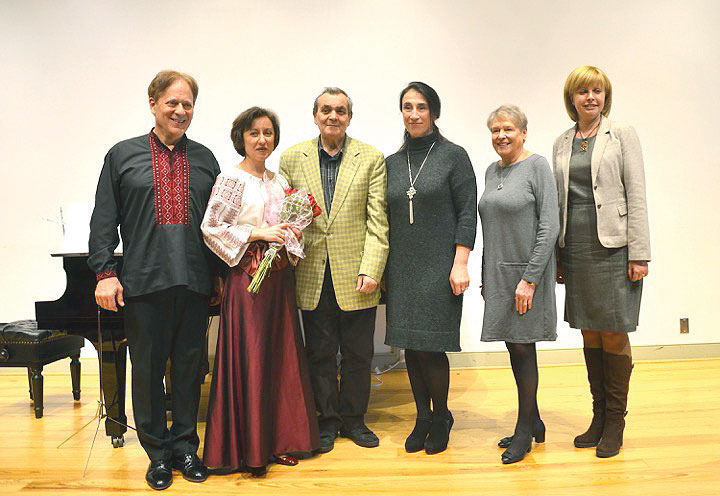 At the Lyceum in Alexandria, Va., (from left) are: Arthur Greene, Solomia Soroka, Yevhen Stankovych, Ludmila Mazuka, Christine Lucyk and Olha Ivanova.