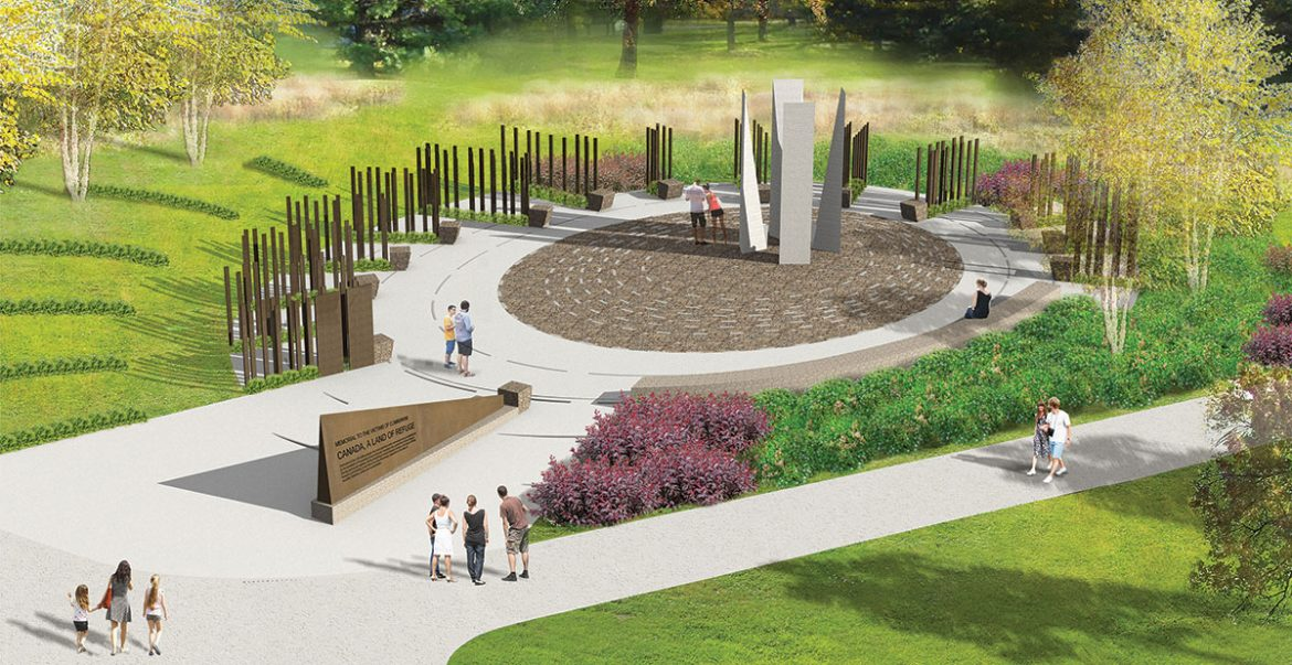 Team Moskaliuk's design for the Victims of Communism memorial in Ottawa.