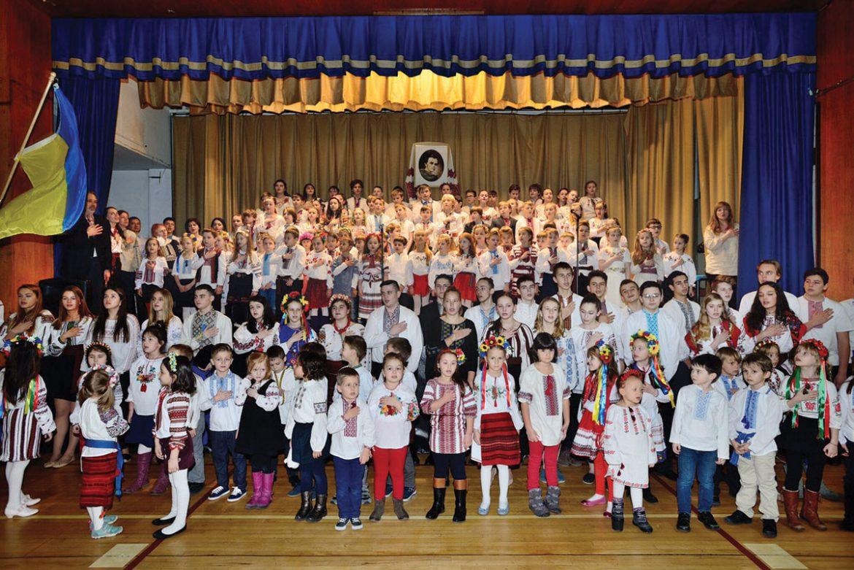 Students and teachers of the Self-Reliance School of Ukrainian Studies in New York City.
