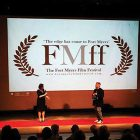 "Olha Onyshko at the Fort Myers Films Festival, where her film ""Women of Maidan"" won the award for Best Documentary."