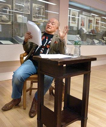 """Yuriy Tarnawsky reads his poem """"Stephen Hawking Goes Flying."""""""