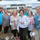 Volunteers at the Chornobyl exhibit (from left): Tom Hausman, Lida Hausman, Anna Macilienski, Areta Baranowskyj, Vira Bodnaruk, Ostap Macilienski, Lesia Popel and Bohdan Bodnaruk.