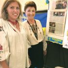 At the UNA information table during the Pysanka Festival in Los Angeles, (from left) are Zoryana Keske, secretary of John Hodiak Branch 257, and Luba Poniatyszyn-Keske, UNA adviser and Branch 257 president.