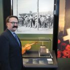 Lubomyr Luciuk on June 12 at the internment exhibit at the Canadian Museum of History.