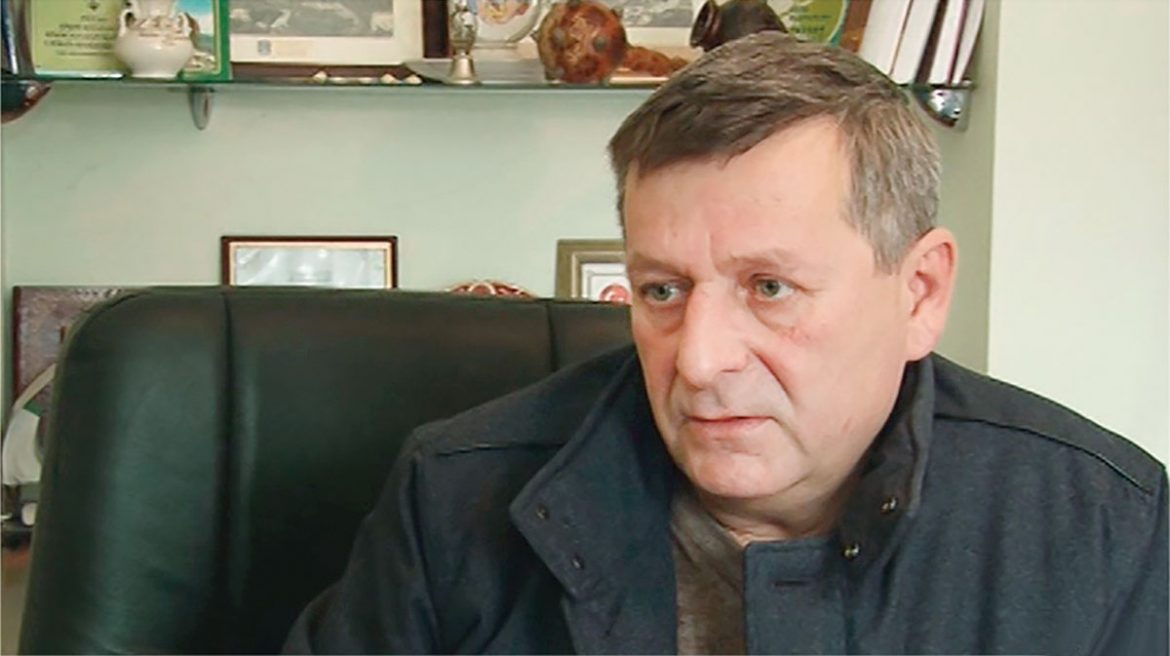 Crimean Tatar Akhtem Chiygoz faces eight years in prison for displaying a Ukrainian flag.
