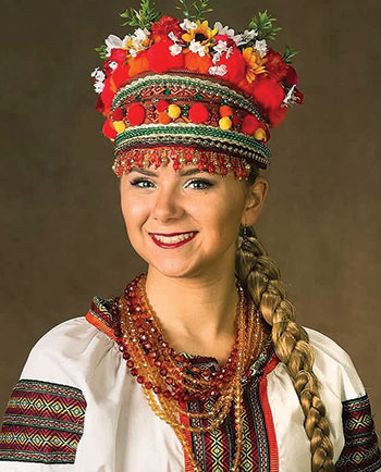 Anastasiya Kaspruk of Colonia, N.J., is in her fourth year with the Tamburitzans.