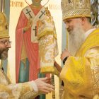 Patriarch Sviatoslav with the new eparch of Chicago, Bishop Benedict Aleksiychuk.