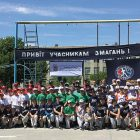 Participants of the 2017 Ukraine Little League Championships in Kremenets, Ternopil Oblast.