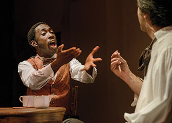 Jeremy Tardy as Ira Aldridge in Yara's show about the relationship between the African American actor and Taras Shevchenko.