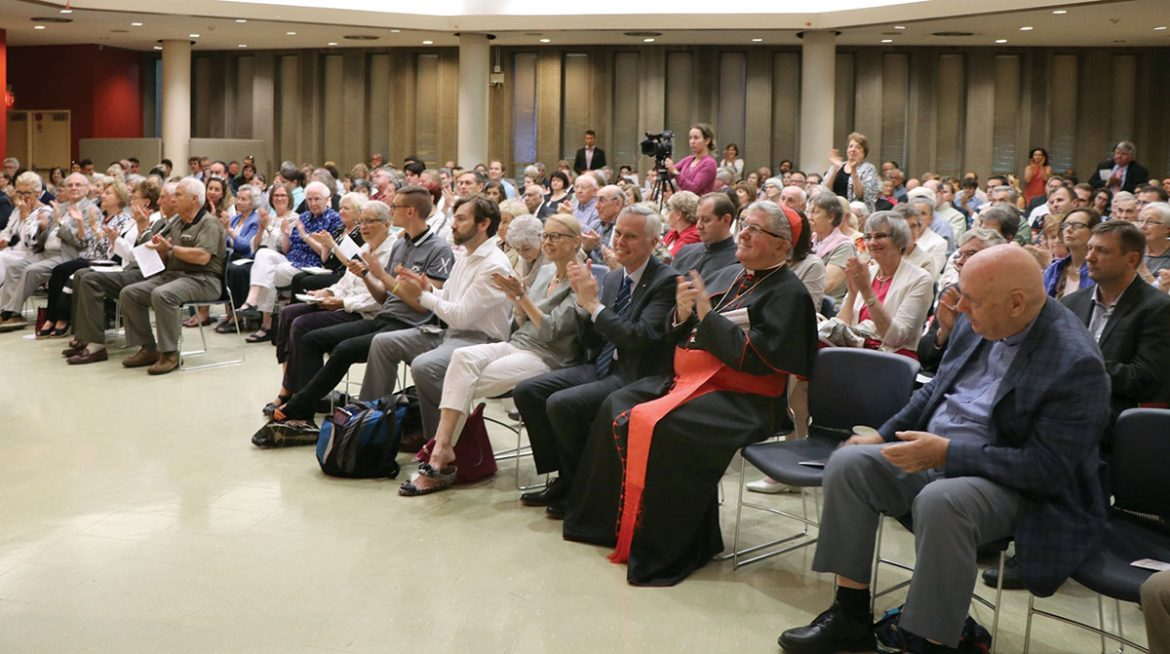 The audience at the presentation on the history and tasks of the Sheptytsky Institute.