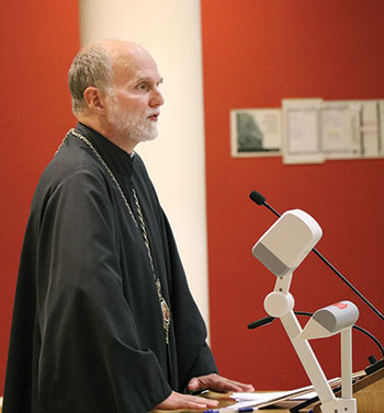 Bishop Borys Gudziak speaks about the work and funding of the Sheptytsky Institute.