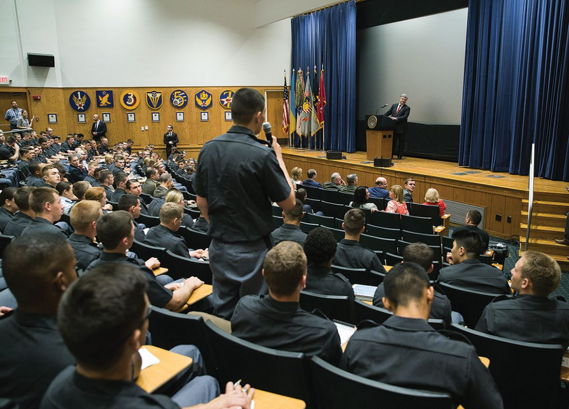The question-and-answer session after the Ukrainian president's remarks at West Point.