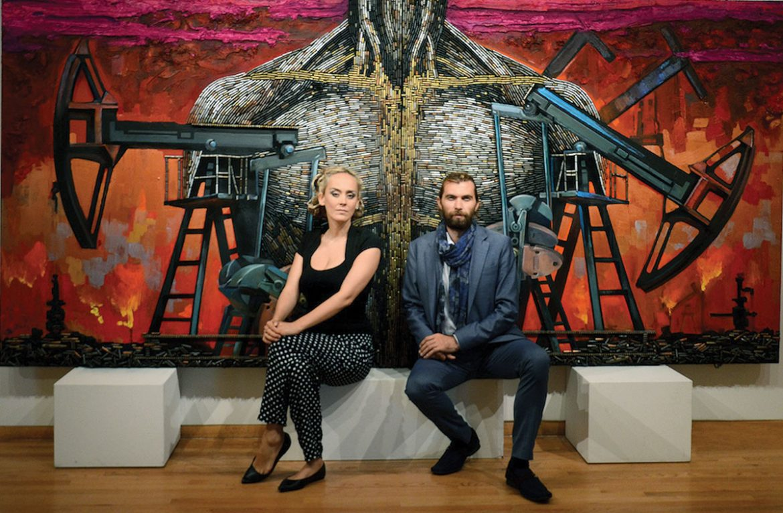 Artists Daria Marchenko and Daniel Green.