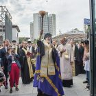Bishop Borys Gudziak consecrates the Sheptytsky Center.