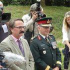At the Konowal Walk dedication ceremonies (from left) are: Paul Grod, president, Ukrainian Canadian Congress; Prof. Lubomyr Luciuk, chairman, Ukrainian Canadian Civil Liberties Foundation; and the presiding officer, Lt. Gen. Paul Wynnyk, commander, Canadian Army.