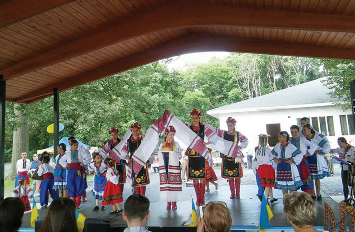 COHOES, N.Y. – A Ukrainian Independence Day Festival was held at the Ukrainian American Citizens Club in Cohoes, N.Y., on Saturday, August 26. Above, the Zorepad Dance Ensemble performs.