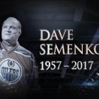 The National Hockey League released this image in memory of Dave Semenko.