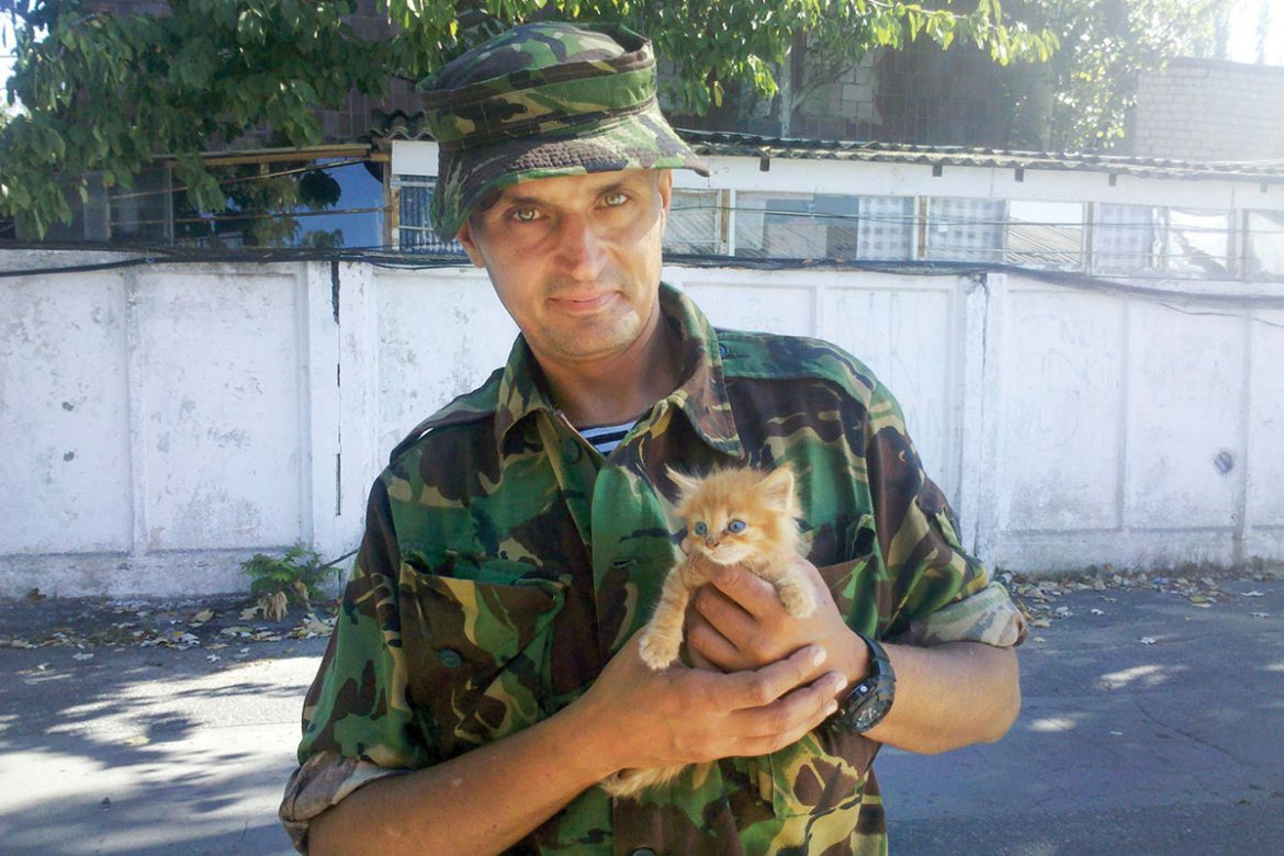 Vasyl Bondar, 42, spent nearly nine months in the frontline town of Shyrokyne in Donetsk Oblast in a marine unit during his yearlong tour of duty.