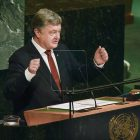 President Petro Poroshenko of Ukraine speaks before the U.N. General Assembly on September 20.