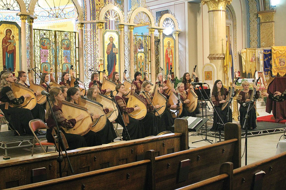 The Women's Bandura Ensemble of North America performs in Chicago.