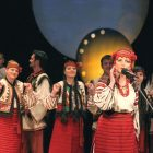 "A scene from the operetta ""Hutsulka Ksenia."""