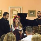 At the concert at Christ the King Parish Center (from left) are: Levon Hovsepian, (piano), David Gvinianidze (tenor), Olga Lisovska (soprano) and Vartan Gabrielian (bass-baritone).