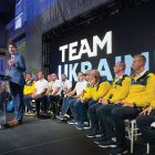 Canadian Prime Minister Justin Trudeau speaks at the gala reception for Ukraine's athletes organized by the Ukrainian Canadian Congress on September 22.