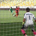 Lukian Tomaszewsky in goal.