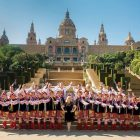 The Hromovytsia Ukrainian Dance Ensemble of Chicago in Barcelona.
